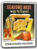 Pennsylvania Railroad: Season's Best Way to Travel. Vintage USA Travel Canvas. Sizes: A4/A3/A2/A1 (002696)